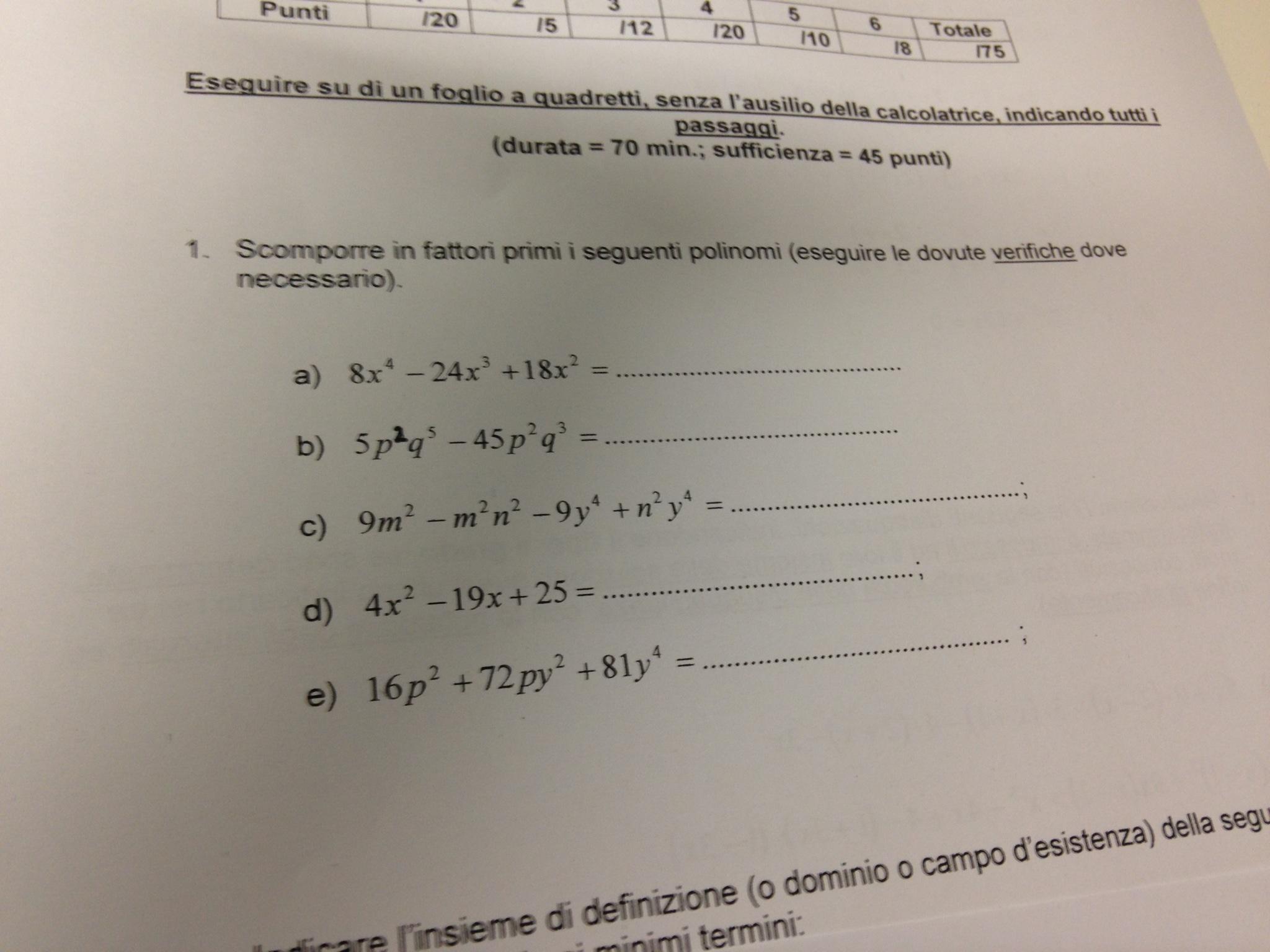 Vittorio Scrive Esercizi Sulla Scomposizione Matebook