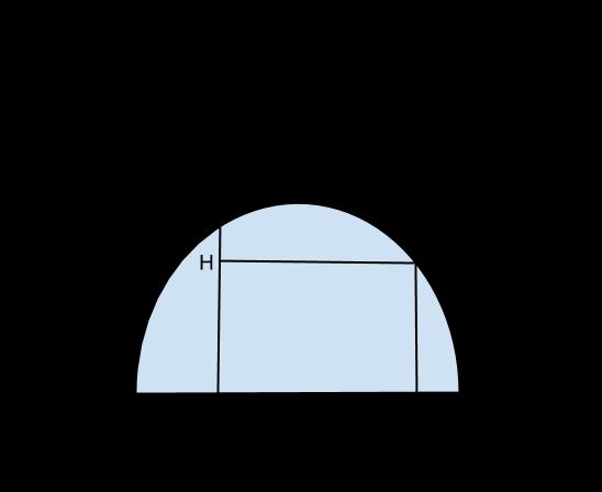 semicirconferenza quadrilatero