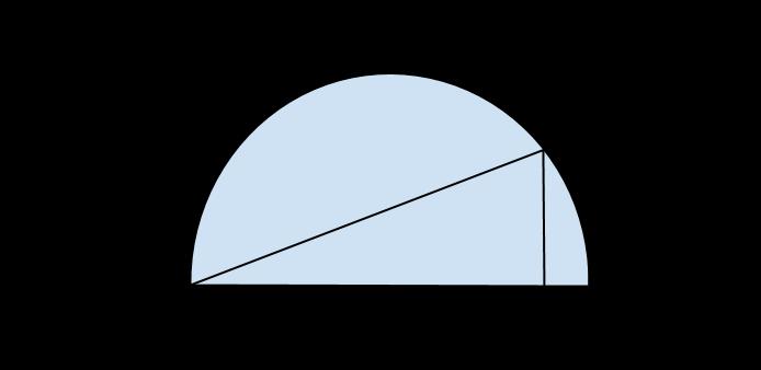 semicirconferenza con tangente