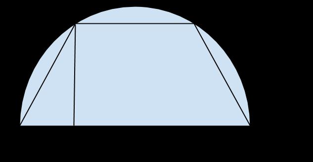 trapezio isoscele semi circonferenza