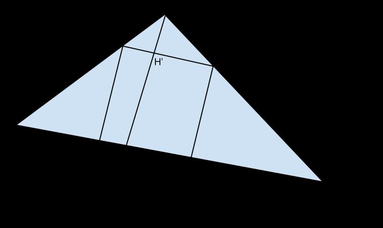 triangolo con quadrato iscritto