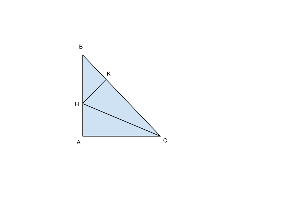 triangolo rettangolo con bisettrice
