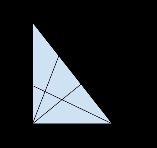 triangolo rettangolo con bisettrici