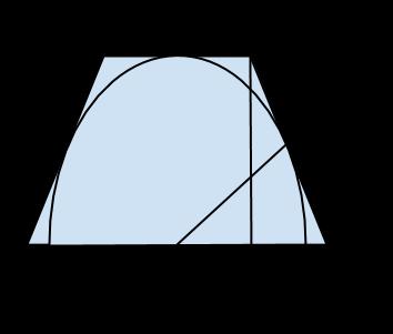 trapezio e semicirconferenza