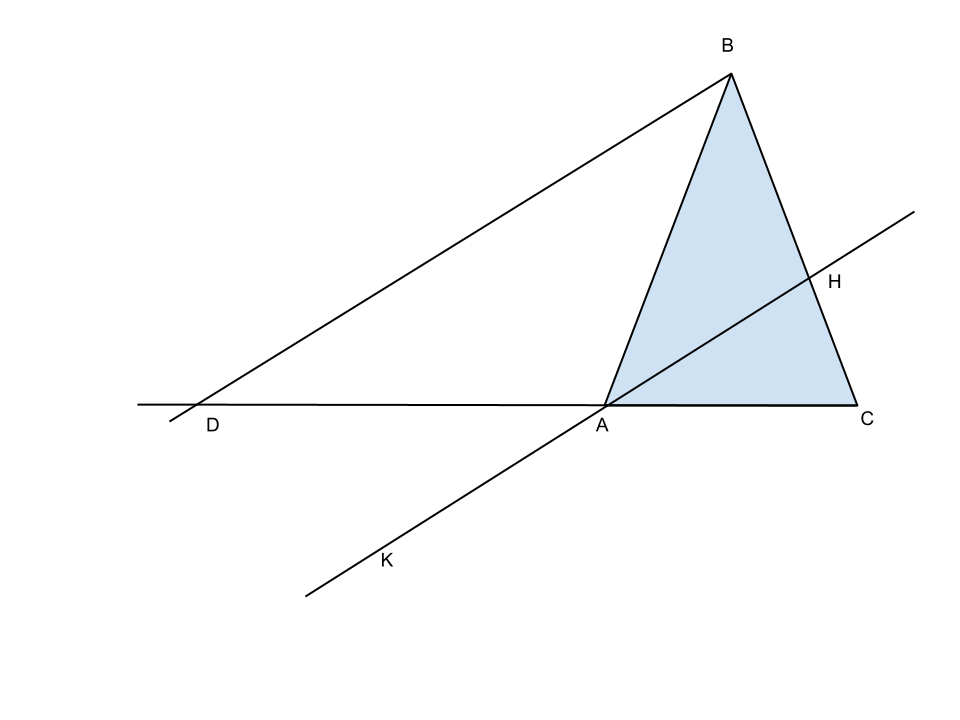 triangolo con bisettrice esterna